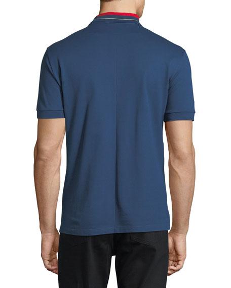 Cuban-Fit Striped-Collar Polo Shirt