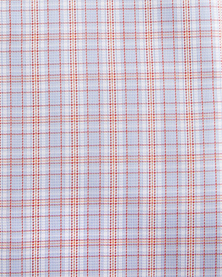 Contemporary-Fit Plaid Dress Shirt, Orange