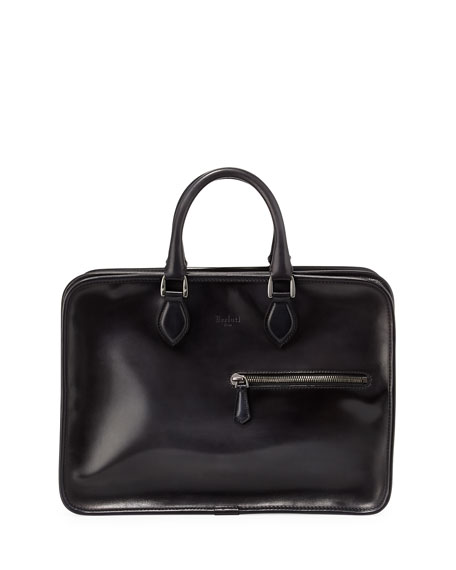 Berluti Deux Jours Venezia Calf Leather Briefcase