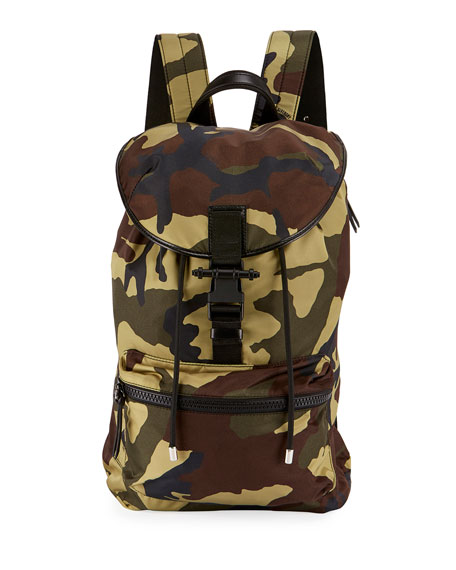 Givenchy Camo-Print Nylon Backpack, Multicolor