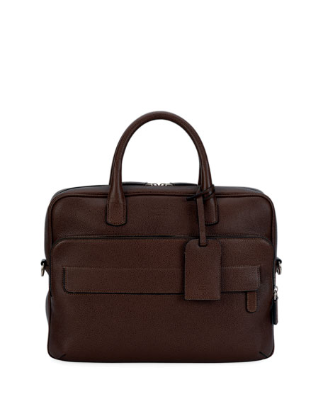 Caviar Leather Briefcase, Red
