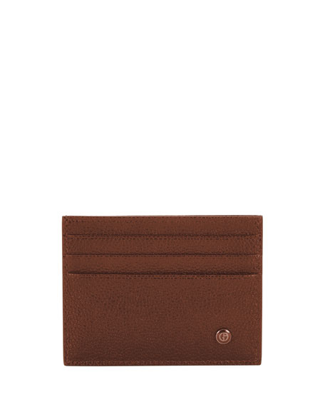Giorgio Armani Leather Credit Card Case, Red