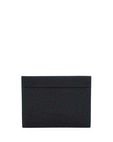 Leather Card Case, Blue
