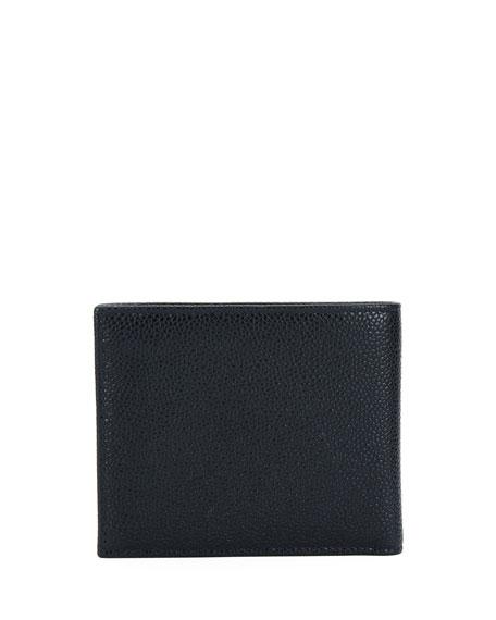 Leather Bi-Fold Wallet, Blue