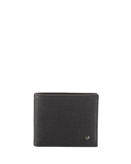 Giorgio Armani Caviar Leather Bi-Fold Wallet