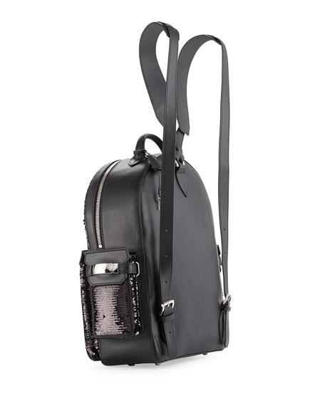 PHD Sequined Backpack, Black