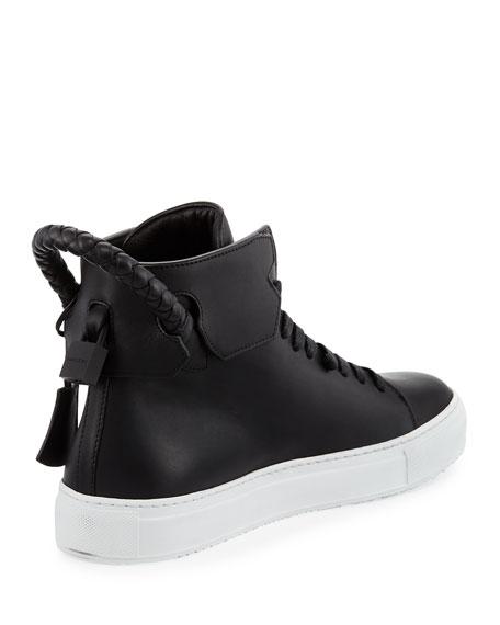 Men's 125mm Leather High-Top Sneaker, Black