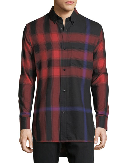 Burberry CRIMSON RED SALWICK LONG FLA