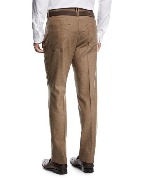 Five-Pocket Flannel Dress Pants