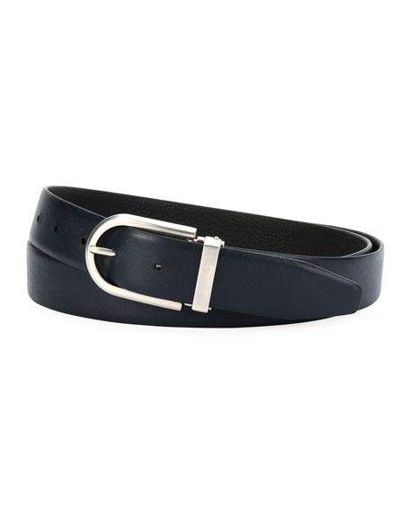 Reversible Calf Leather Belt, Black