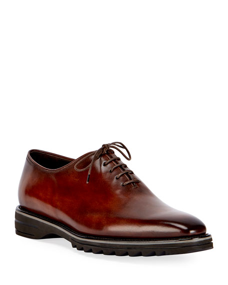 Alessandro Spada Leather Lace-Up Shoe, Brown
