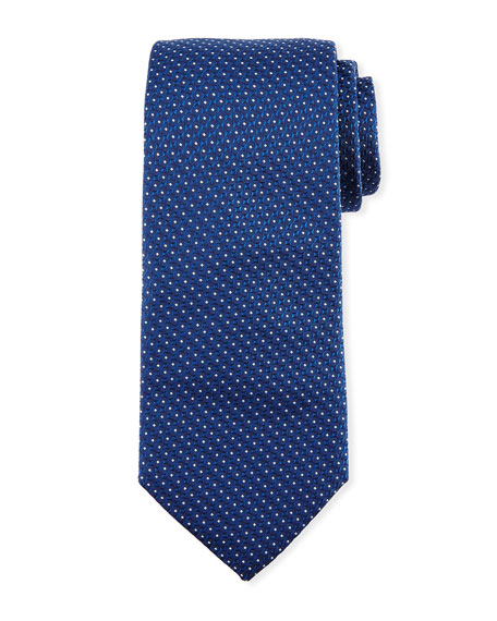 BOSS Textured Dot Silk Tie, Light Blue