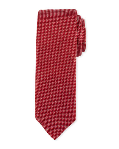 Textured Silk Tie, Red