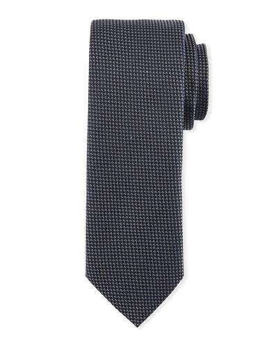 Textured Silk Tie, Silver