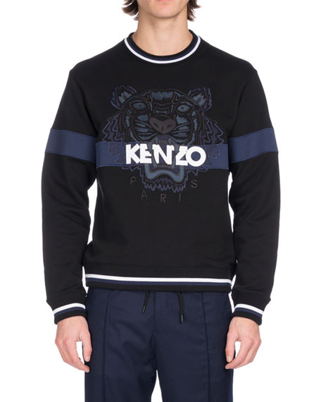 Kenzo Embroidered Tiger Logo Sweatshirt, Black