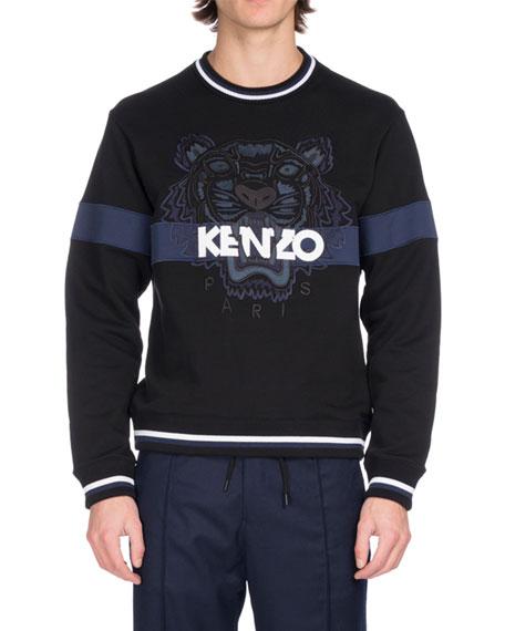 Kenzo Embroidered Tiger Logo Sweatshirt, Black