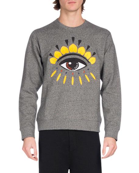 Kenzo Embroidered Eye Icon Sweatshirt, Gray