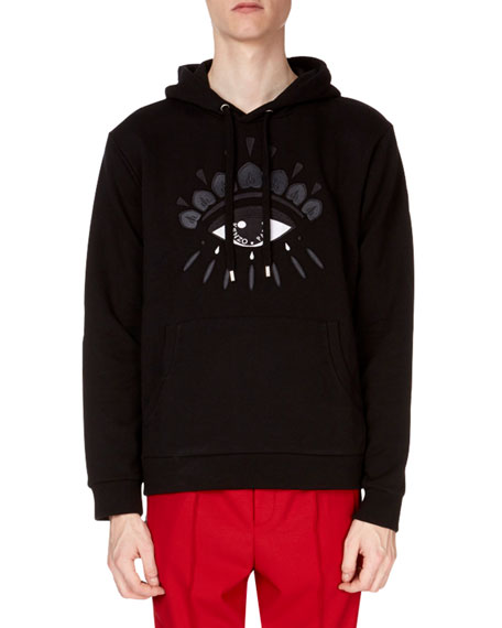 Kenzo Embroidered Eye Icon Hoodie, Black