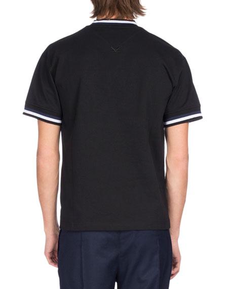 Urban Stripe Tiger Logo T-Shirt, Black