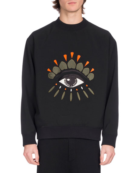 Kenzo Embroidered Eye Icon Sweatshirt, Black