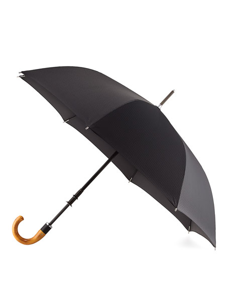 ShedRain Stratus Chrome 70000 Umbrella with Wooden Handle,