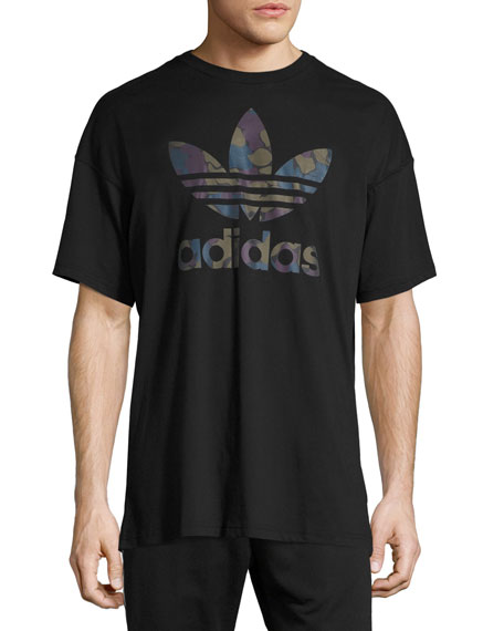 Adidas Future Camo Trefoil T-Shirt, Black