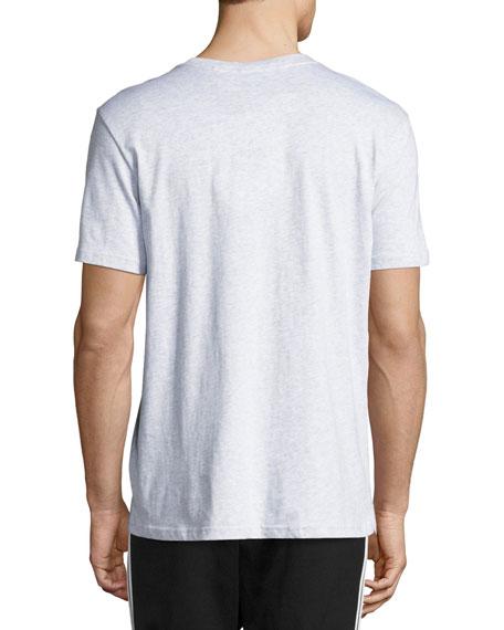 Mesh Box Logo T-Shirt, Light Gray