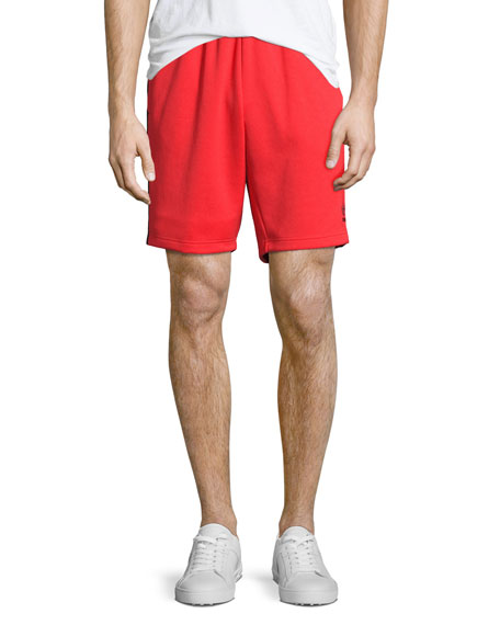 Superstar Track-Stripe Shorts, Red