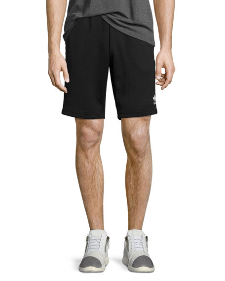 Adidas Superstar Track-Stripe Shorts, Black