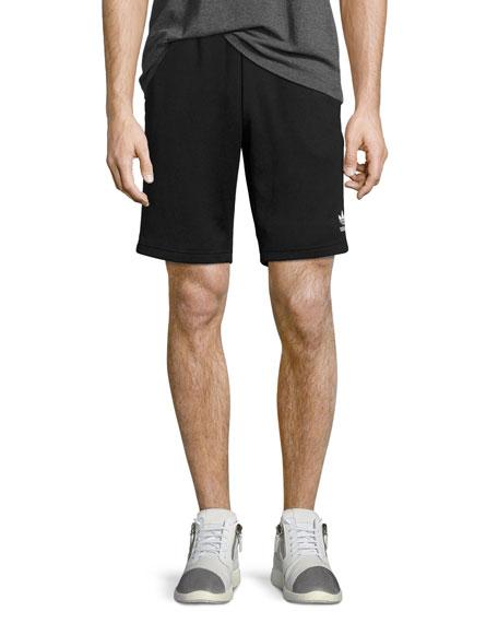 Superstar Track-Stripe Shorts, Black