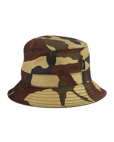 Camouflage Bucket Hat, Multicolor