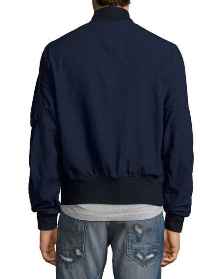 Rackham Chambray Bomber Jacket, Navy