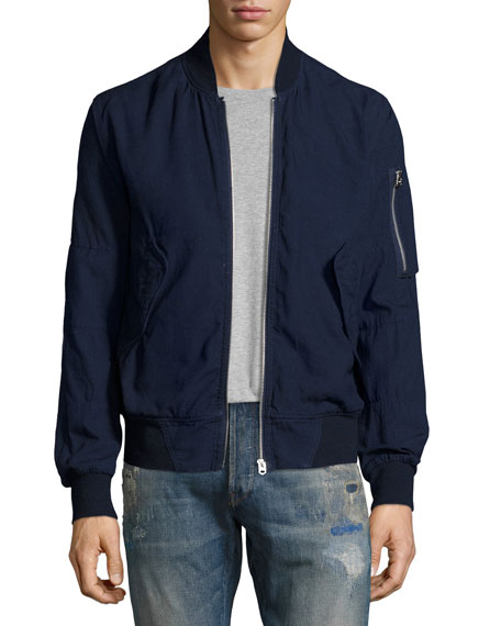 G-Star Rackham Chambray Bomber Jacket, Navy