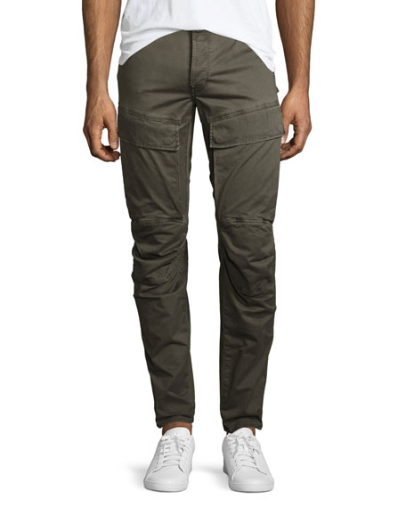 Air Defense 5620 3D Slim Cargo Jeans, Dark Shamrock/Asfalt (Olive)