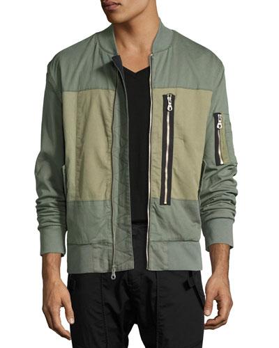 Knox Utility Bomber Jacket, Green