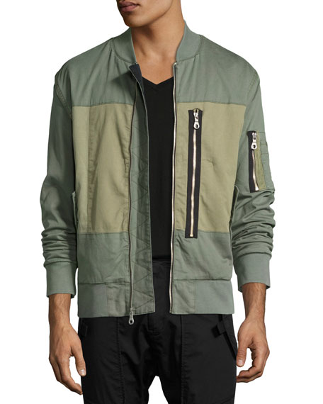 Knox Utility Bomber Jacket, Green