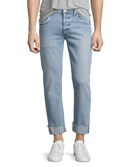 Hudson Blake Cropped & Cuffed Slim-Straight Jeans, Light