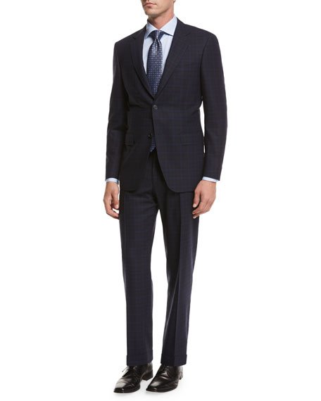 Canali Plaid Super 140s Impeccabile Wool Two-Piece Suit,