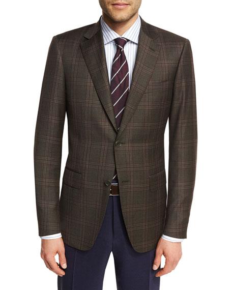 Canali Plaid Super 130s Wool Sport Coat