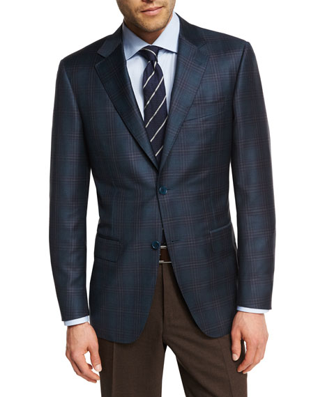 Plaid Super 130s Wool Sport Coat by Canali