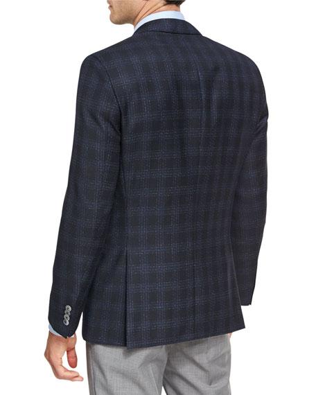 Shadow Windowpane Wool Sport Coat, Navy