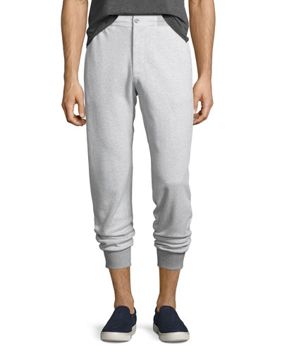 Tailored Birdseye Jogger Pants, Gray