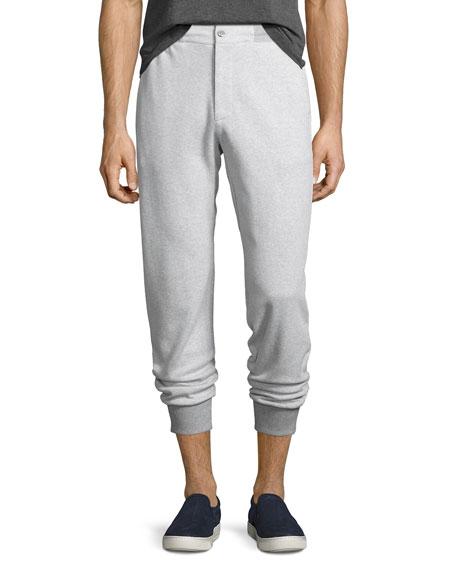Tailored Birdseye Jogger Pants, Gray
