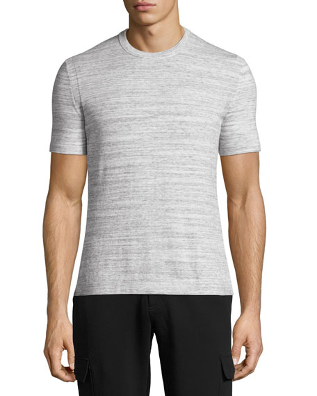 Michael Kors Space-Dye Pima Cotton Crewneck T-Shirt, Gray