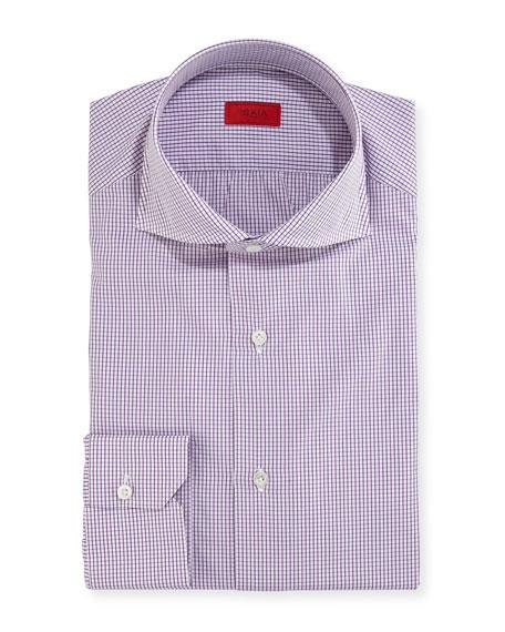 Graph-Check Cotton Dress Shirt