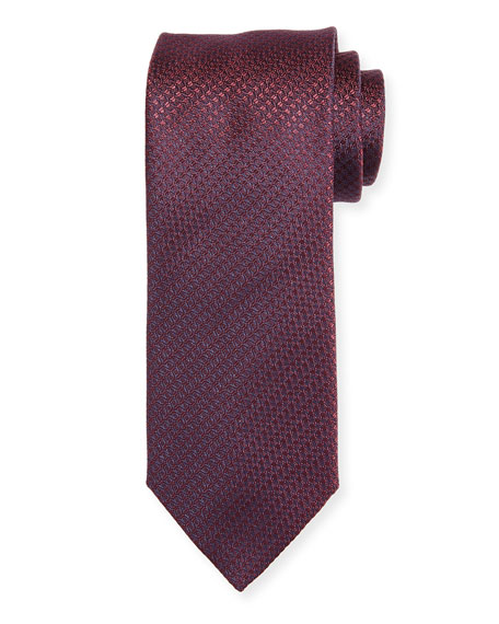 Canali Cable-Weave Silk Tie