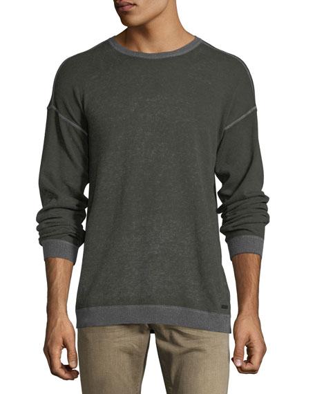 John Varvatos Star USA Rib-Trimmed Reverse-Printed Sweater