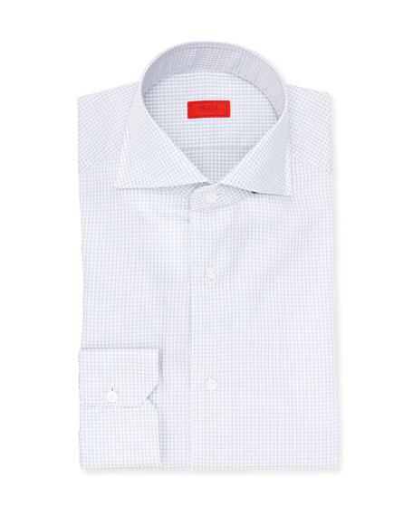 Gingham Check Cotton Dress Shirt