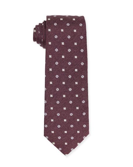 Isaia Micro-Flower Silk Tie