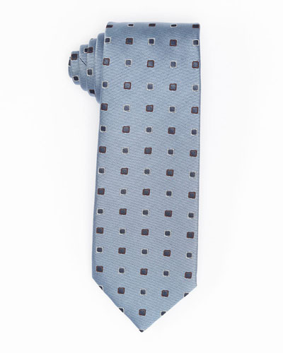 Diamond-Box Silk-Cotton Tie